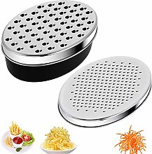 Stainless Steel Carrot Grater, Cheese Grater, Oval