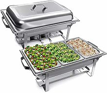 Stainless Steel Chafing Dish Buffet Complete Set,