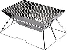 Stainless Steel Charcoal Grill, Mini Portable