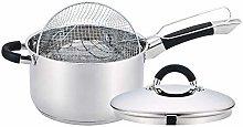 Stainless Steel Chip Pan 20 cm Deep Cook Fryer Pot