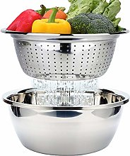 Stainless Steel Colander Mixing Bowl Set Nesting