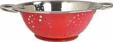 Stainless Steel Colander Wayfair Basics Colour: Red