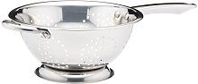 Stainless Steel Colander with Long Handle in Satin