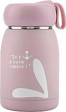 Stainless Steel Cute Rabbit Pattern Vacuum Cup Mug