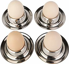 Stainless Steel Egg Cup Holder Set for Soft Boiled