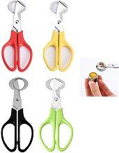 Stainless Steel Egg Cutter Scissors,4pcs Scissors