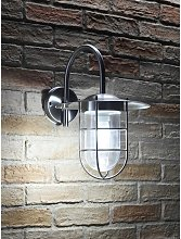 Stainless Steel Fishermans Wall Light - Cool White