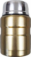 Stainless Steel Flask with Retractable Spoon 0.5L