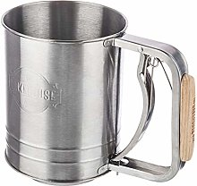 Stainless Steel Flour Sieve with Wooden Handle