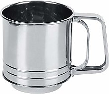 Stainless Steel Flour Sifter Cup Hand Held Squeeze
