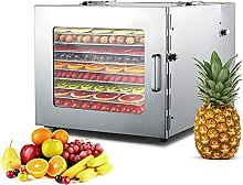 Stainless Steel Food Dehydrator, Equipped with 10