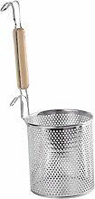 Stainless Steel Food Strainer Colander with Wooden
