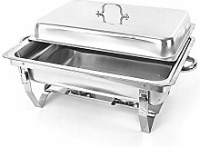 Stainless Steel Food Warmer, 7.5 L Chafing Dish