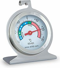stainless steel fridge/freezer thermometer. Ideal