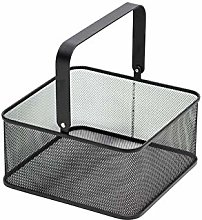 Stainless Steel Fruit Basket, Modern Square Picnic