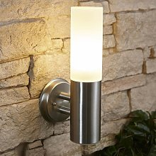 Stainless Steel Glass Wall Light - IP44 Outdoor