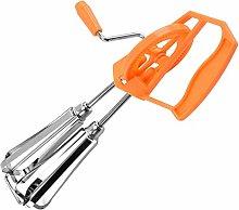Stainless Steel Hand Whisk 25.5*6.5Cm White/Orange