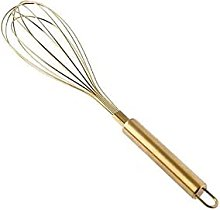 Stainless Steel Hand Whisk 31*6.8Cm Gold Stainless
