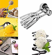 Stainless Steel Ice Cream Spoon Cream Scoop Spring