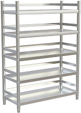 Stainless Steel Kitchen Shelving Unit 5 Tier