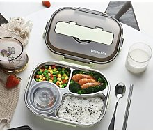 Stainless steel lunch box separated type, simple