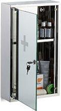 Stainless Steel Medicine Cabinet, Lockable Mirror