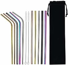 Stainless Steel Metal Drinking Straws Multicolor