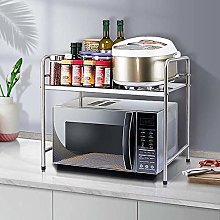 Stainless Steel Microwave Oven Kitchen Shelf