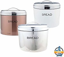 Stainless Steel Oval Shaped Bread Bin Loaf Storage