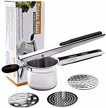Stainless Steel Potato Ricer with 3