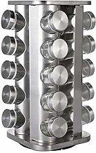 Stainless Steel Revolving Spice Rack For 20