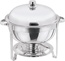 STAINLESS STEEL ROUND FOOD WARMER CHAFING DISH SET