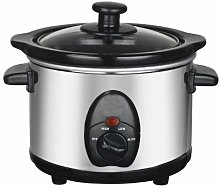 Stainless Steel Slow Cooker (Silver, 1.5L)