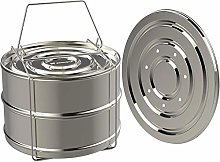 Stainless Steel Stackable Steamer Insert Pans with