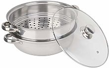 Stainless Steel Steamer Pot - Stackable 2 Layer