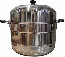 Stainless Steel Steamer/Soup Pot 3-Layer Large