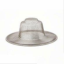 Stainless Steel Stopper Mesh Kitchen Straw Hat