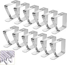 Stainless Steel Tablecloth Clip, 12 Pieces