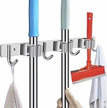 Stainless steel tool holder - broom holder for the