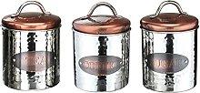 Stainless Steel Vintage Copper Tea Coffee Sugar