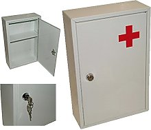 STAINLESS STEEL WALL MOUNTED FIRST AID MEDICAL
