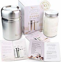 Stainless Steel Yoghurt Maker with 1 Quart Glass