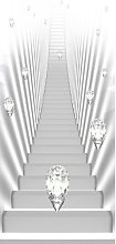 Stairs and Jewels I Door Wall Mural East Urban Home
