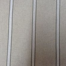 Stamford Stripe French Linen Grey 140cm/54""