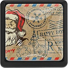Stamp with Santa Square Cabinet Knobs Cabinets