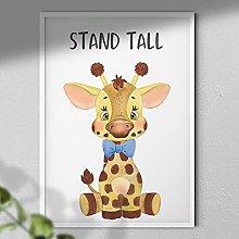 Stand Tall - Giraffe Print | Nursery Art Wall |