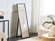 Standing Floor Mirror Black Rectangular 40 x 140 cm