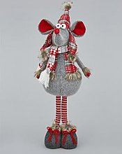 Standing Plush Mouse Christmas Room Decoration