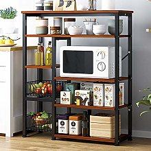 Standing Shelf Units Kitchen 5-Tier Metal Frame