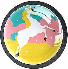 Standing Unicorn Crystal Drawer Handles Furniture